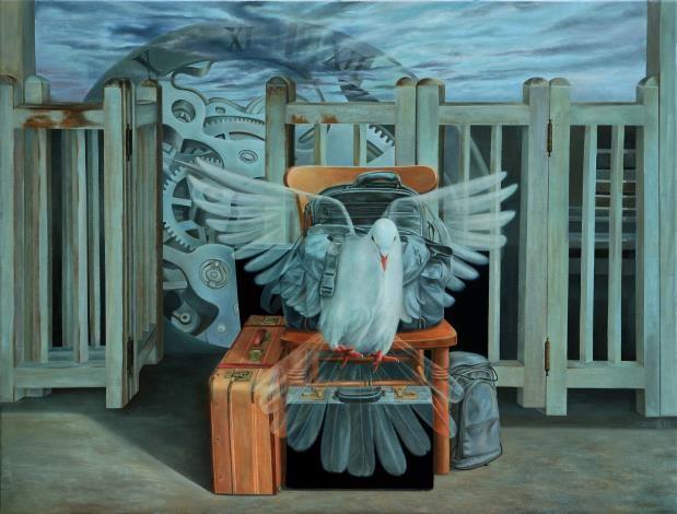 雲林之光 藝術家張鈴木獲2012、2020法國藝術家沙龍展銅牌獎殊榮。(記者張達雄攝影)